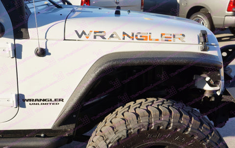 Extra Large Jeep WRANGLER Orange Digital Camo Hood Decals