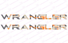 Jeep WRANGLER Orange Digital Camo Hood Decals