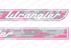 Jeep WRANGLER Pink Camo Retro Hood Decals for Wrangler JK