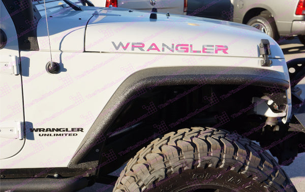 Jeep WRANGLER Pink Digital Camo Hood Decals