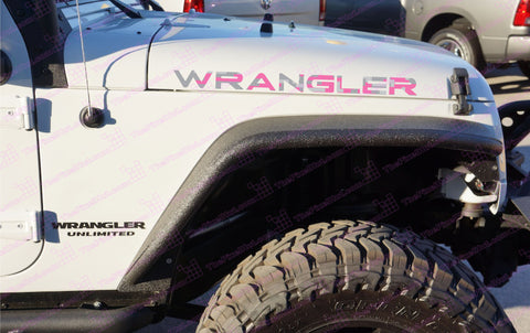 Extra Large Jeep WRANGLER Pink Digital Camo Hood Decals