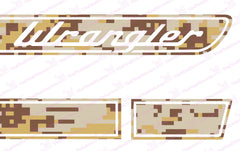Jeep WRANGLER Desert Tan Camo Retro Hood Decals for Wrangler JK
