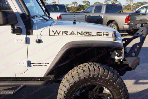 Extra Large Jeep WRANGLER Duck Cover Camo TJ Style Hood Decals