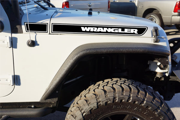 Jeep Wrangler Hood Stripe Decal Kit for Wrangler JK - Multi Color