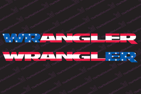 Jeep WRANGLER USA Flag Hood Decals JK Style