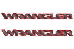 Jeep WRANGLER Hood Decals JL Style Carbon Fiber with Color Border