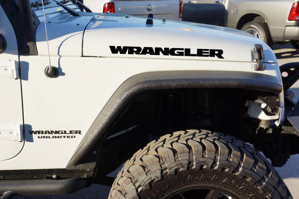 Jeep Wrangler Carbon Fiber Hood Decals