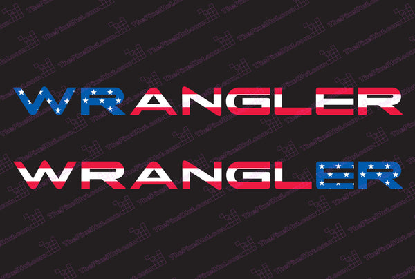 Jeep WRANGLER USA Flag Hood Decals TJ Style