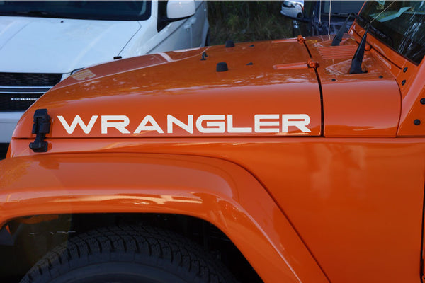 Jeep WRANGLER Extra Large Hood Decals TJ Style
