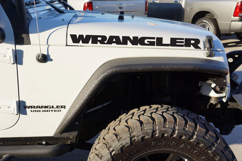 Jeep Wrangler Extra Large Carbon Fiber Hood Decals