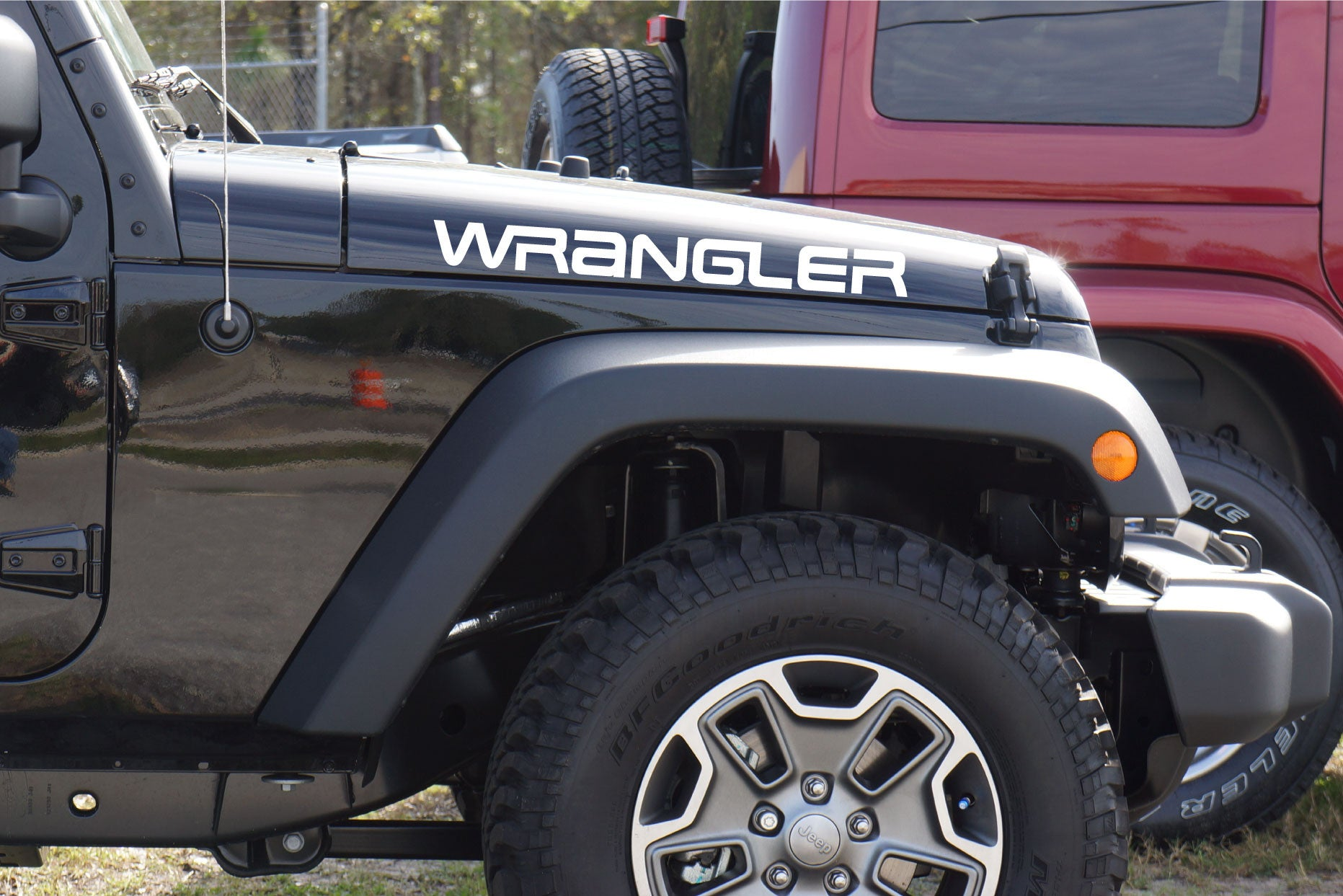 Jeep Wrangler Extra Large Hood Decals Yj The Pixel Hut