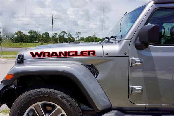 Jeep Wrangler Hood Decal Kit Wrangler JL Style - Multi Color