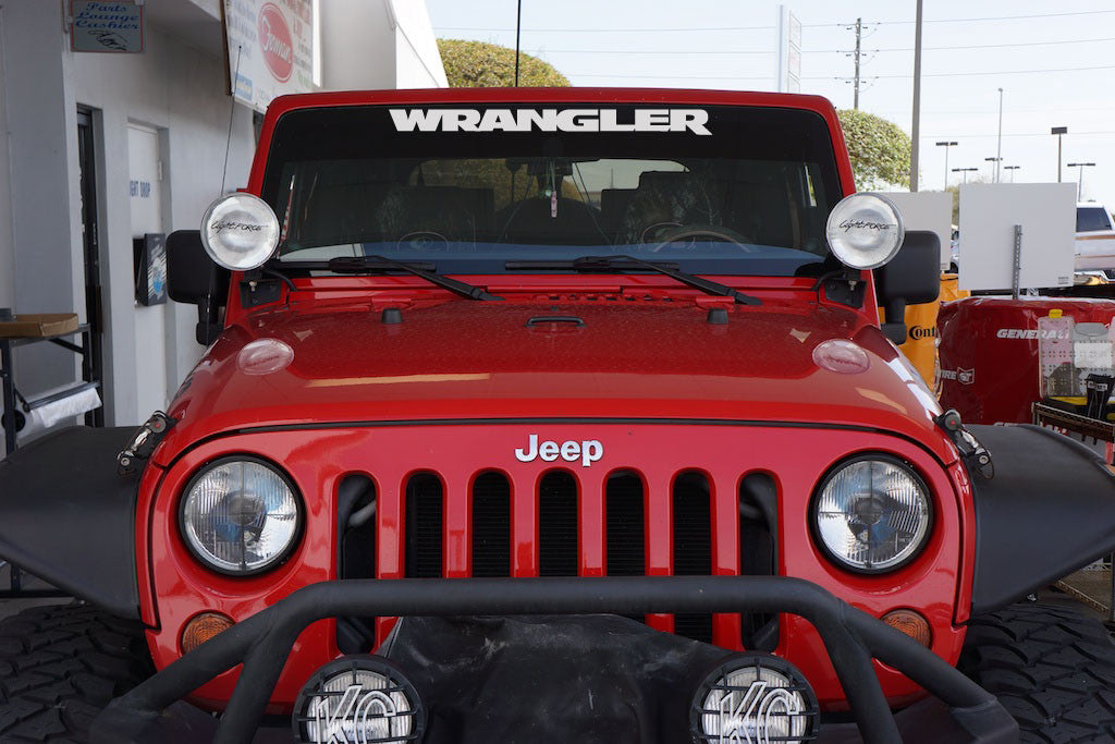 Jeep Wrangler Jk Style Windshield Decal For Your Jeep