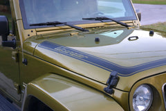 Wrap around Hood Decal to fit Jeep Wrangler JK - Custom text
