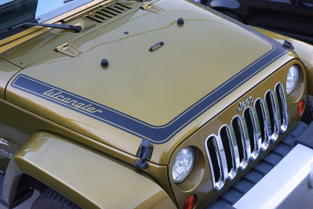 Wrap Around Retro Hood Graphics For Jeep Wrangler Jk The