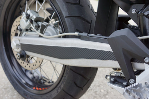 KTM 690 R Enduro and SMC Super Motard Carbon Fiber Swingarm Decals