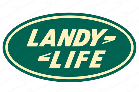 Landy Life Color Decal - Land Rover Badge