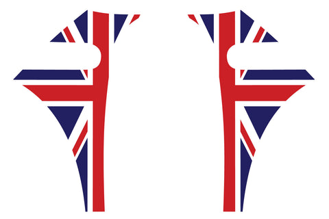 Mini Cooper 2007-2013 Union Jack English Flag A-Panel Red White Blue Decal Kit - Exact Fit