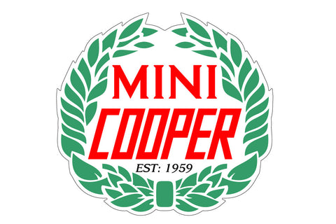 MINI Cooper Retro Laurel Wreath Decal