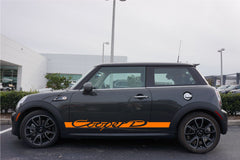 Mini Cooper D Retro Door Decals