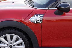 Mini Cooper and Cooper S Hard Top (2014 to Current) Black Jack A-Panel Decal Kit - Black / Dk Grey / White