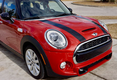 Mini Cooper and Cooper S Hard Top (2014 to Current) Hood Decals - Exact Fit - Single Color