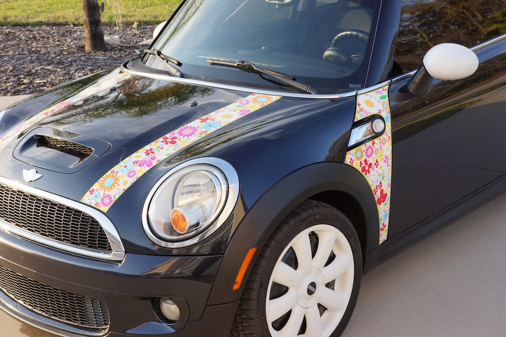 Mini Cooper Bmw R56 Precision Cut Flower Power Hood And A