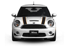 Mini Cooper Hard Top Hood Stripe Decals R50 (2002-2006) - Exact Fit - Two Color