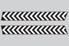 Mini Cooper (2007-2013) R56 Bonnet Hood Stripes - Exact Fit - Black Chevrons