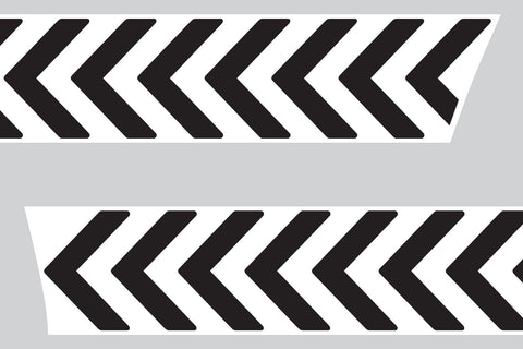 Mini Cooper (2007-2013) R56 Bonnet Stripes - Exact Fit - White Chevrons