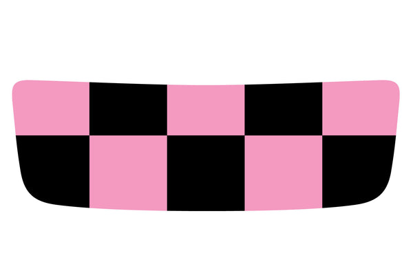 Mini Cooper S (2007-2013) Hood Scoop Decal - Exact Fit - Pink and Black Chequered Flag