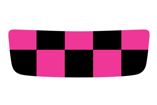 Mini Cooper S (2007-2013) Hood Scoop Decal - Exact Fit - Hot Pink and Black Chequered Flag