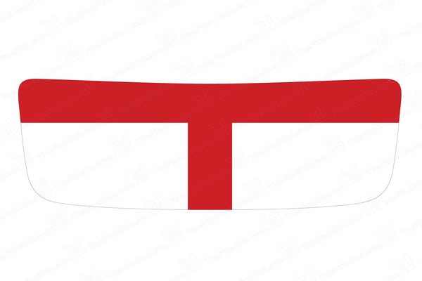 Mini Cooper S (2007-2013) R56 Hood Scoop Decal - White/Red - St George Cross Flag - Exact Fit
