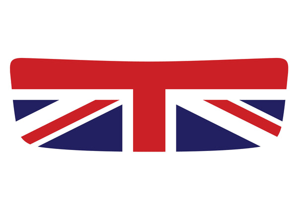 Mini Cooper S (2007-2013) R56 Hood Scoop Decal - Red/White/Blue - Union Jack Flag - Exact Fit