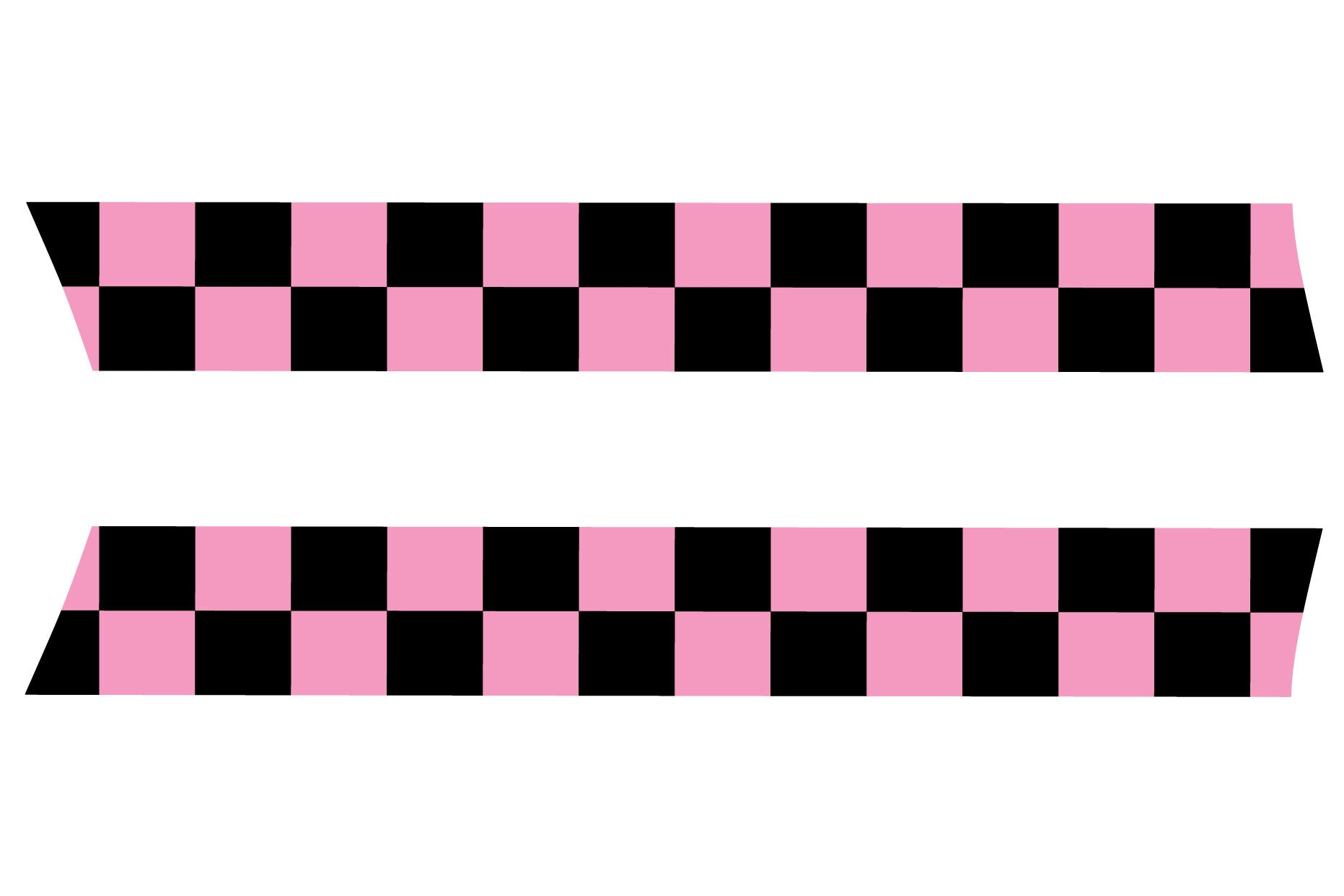 Mini Cooper And S R56 Pink Checker Flag Precision Cut Hood