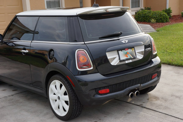 Grey White English Flag Color Trunk Decal For Mini Cooper