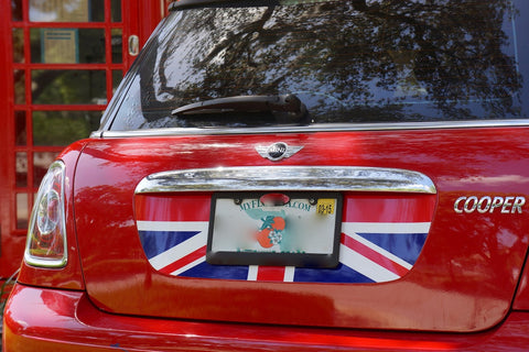 Mini Cooper (2007-2013) R55 R56 Trunk Lid Decal - Exact Fit - Union Jack - Red White Blue English Flag
