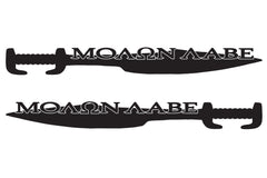 "MOLON LABE ""Come and Take"" Sword Design Hood Decals for your Jeep Wrangler"