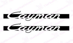 Porsche Cayman Retro Door Decal Kit