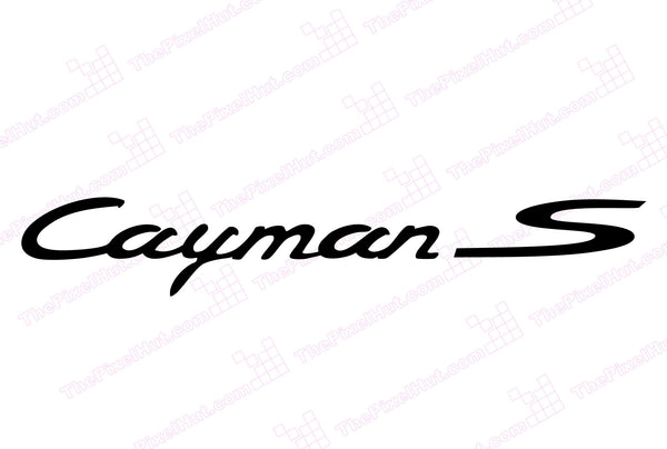 Porsche Cayman S Windshield Decal