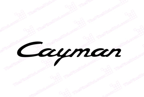Porsche Cayman Windshield Decal