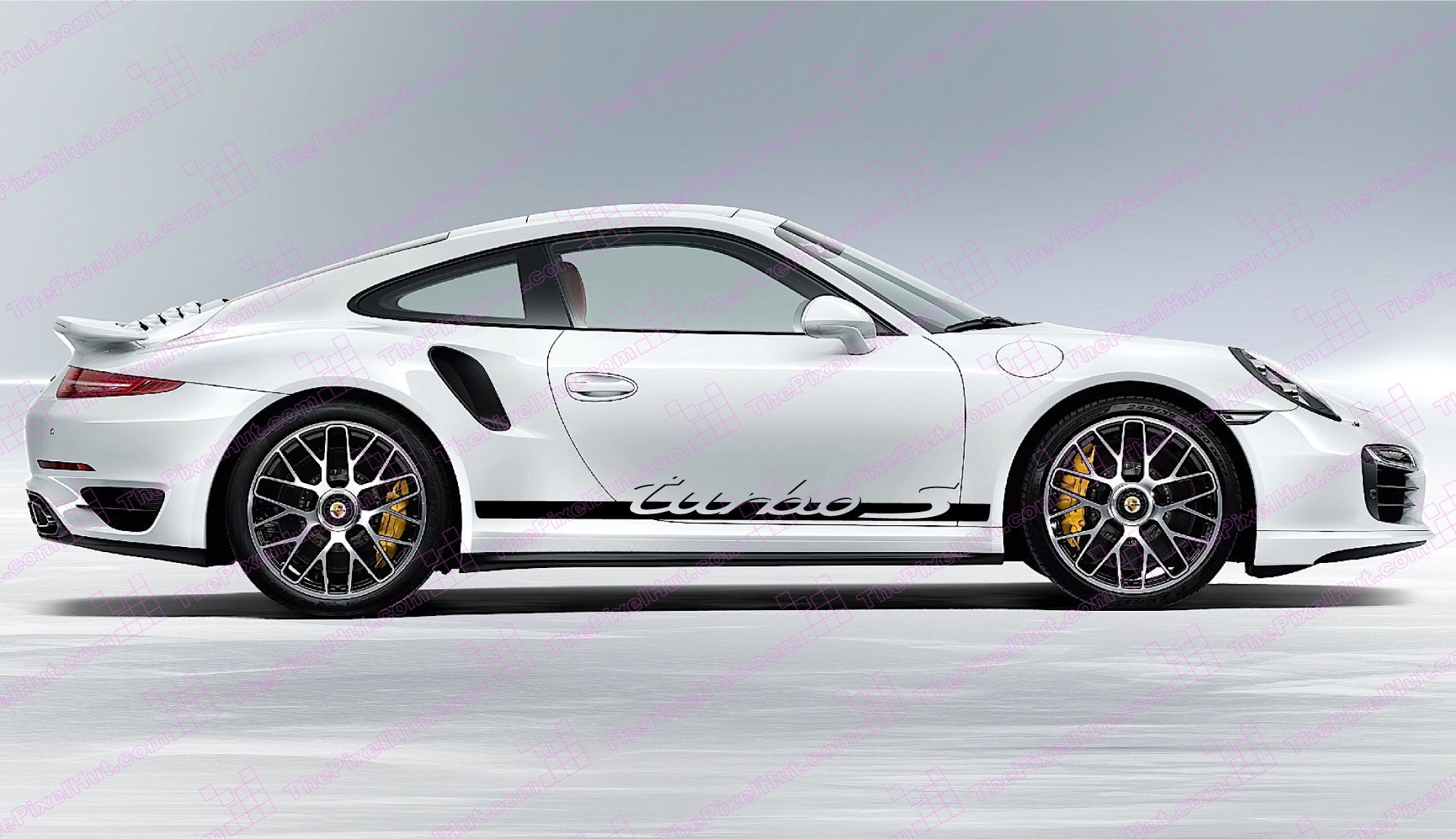 Porsche 911 Carrera Turbo S Retro Door Decals The Pixel Hut
