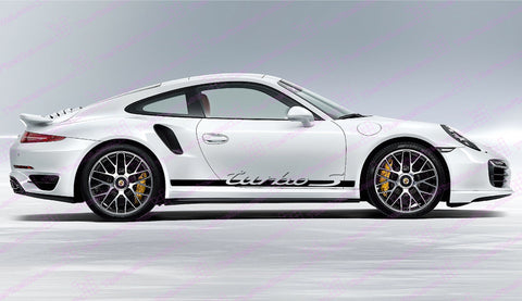 Porsche 911 Carrera Turbo S Retro Door Decal Kit