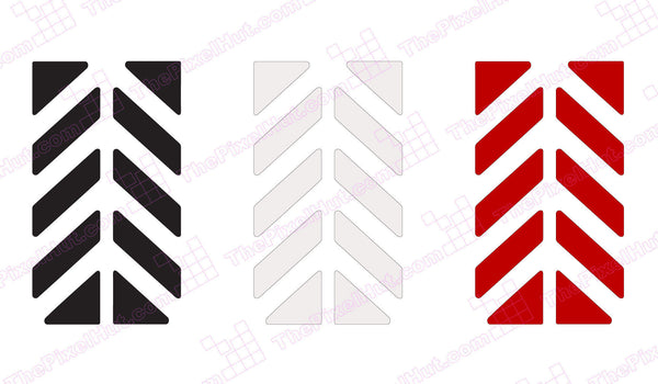 Motorcycle Reflective Graphics Kit Chevron For Arai Xd4