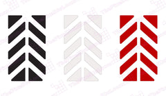 Motorcycle Reflective Chevron Color Selection Black Silver Red
