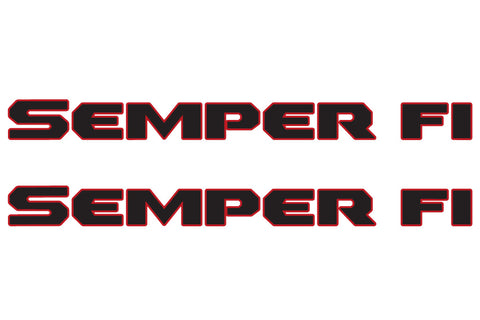 SEMPER FI Hood Decals for Jeep Wrangler - 2 Color