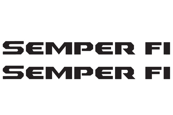 SEMPER FI Hood Decals fits Jeep Wrangler JL and Gladiator JT