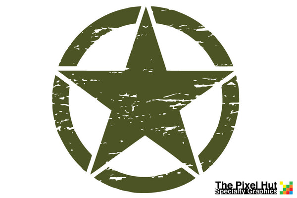 20 inch Oscar Mike Freedom Distressed Star Army Green Laminated