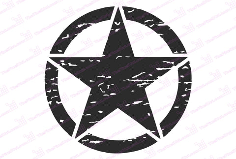 "Toyota FJ Cruiser 6"" Oscar Mike Freedom Distressed Star Carbon Fiber Hood Decal"