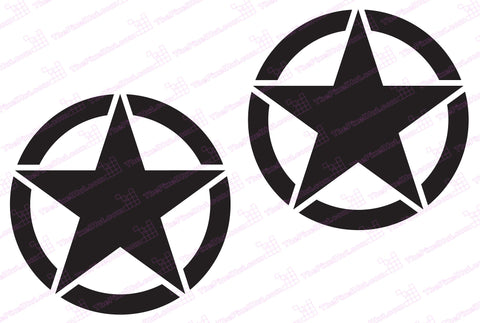 Oscar Mike Freedom Distressed Stars Graphic Sticker for Toyota FJ Cruiser